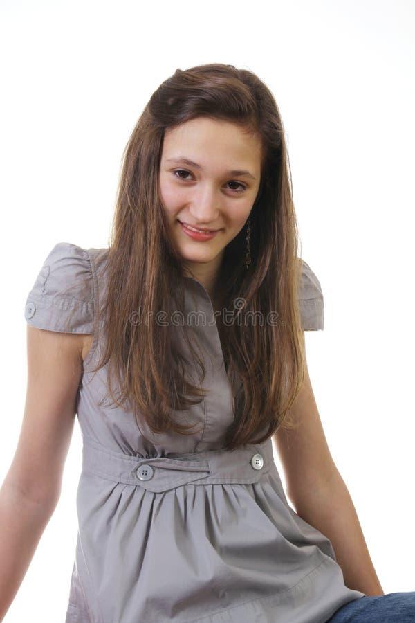 Verticale d'un sourire de l'adolescence photographie stock libre de droits