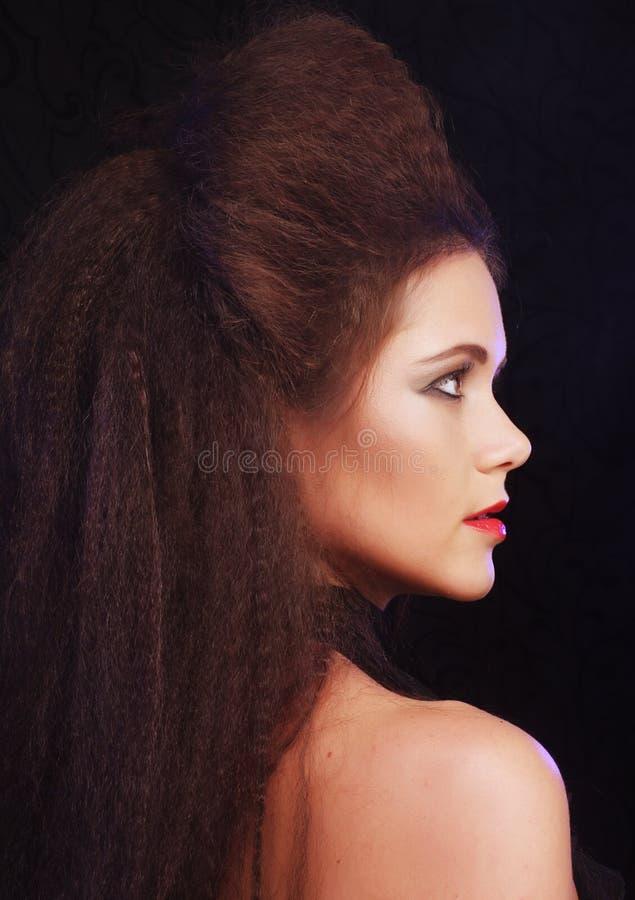 Verticale d'une belle et sexy femme de brunette photographie stock