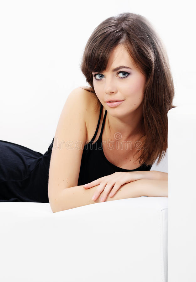 Verticale d'une belle femme sexy photo stock