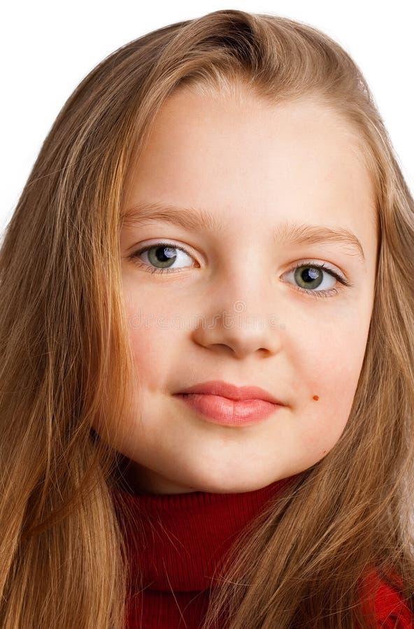 Verticale d'une belle fille photos libres de droits