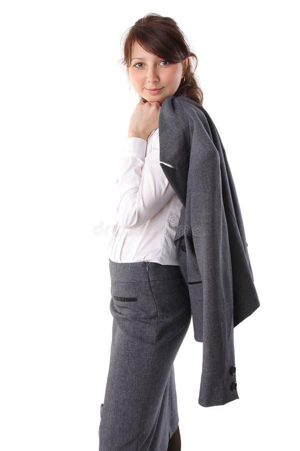 Verticale d'une belle jeune femme d'affaires photos libres de droits