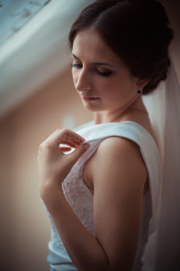 Verticale d'une belle mariée image stock