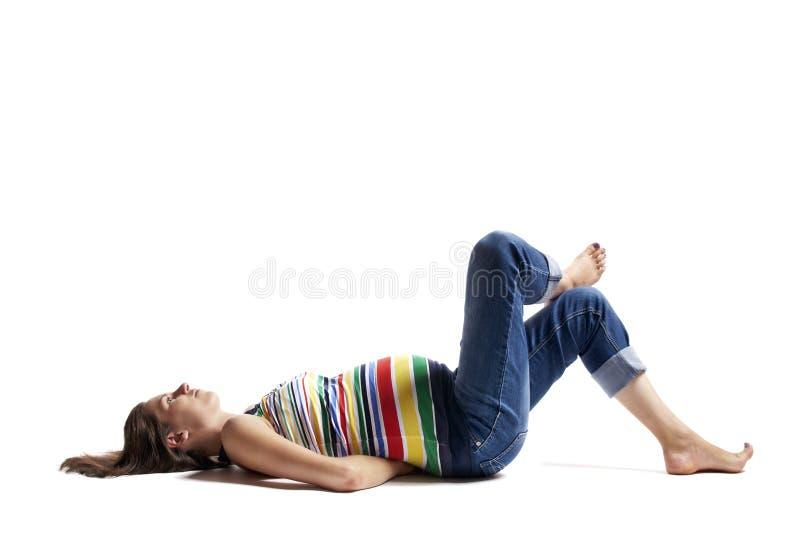 Verticale d'une femme enceinte 6 photo stock