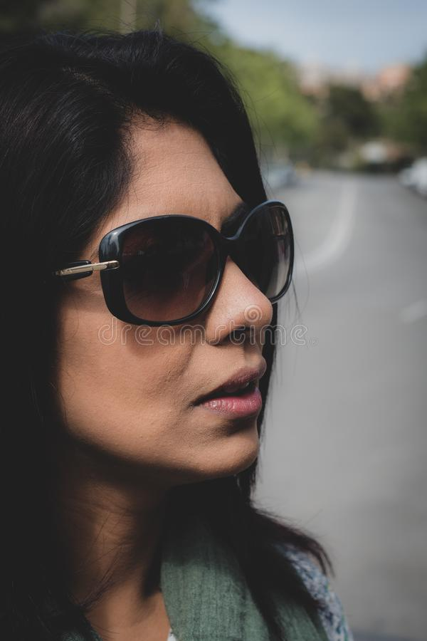Verticale d'une femme indienne photo stock