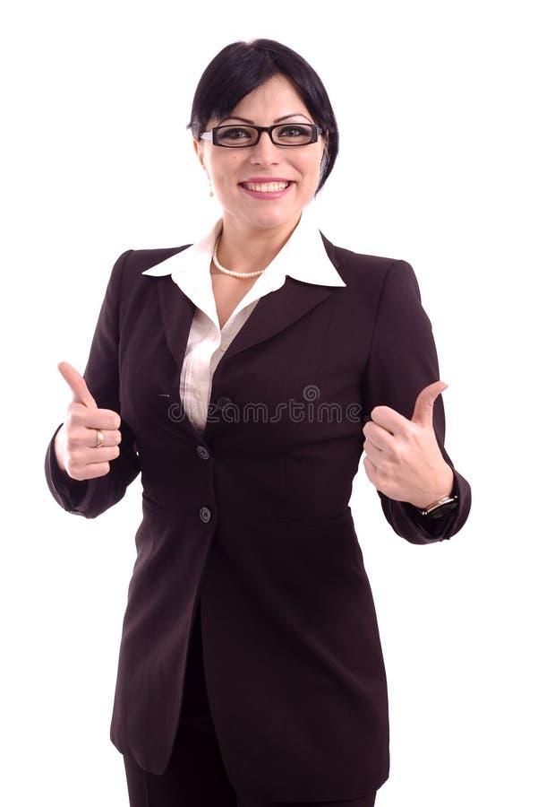 Verticale d'une femme réussie d'affaires photo stock