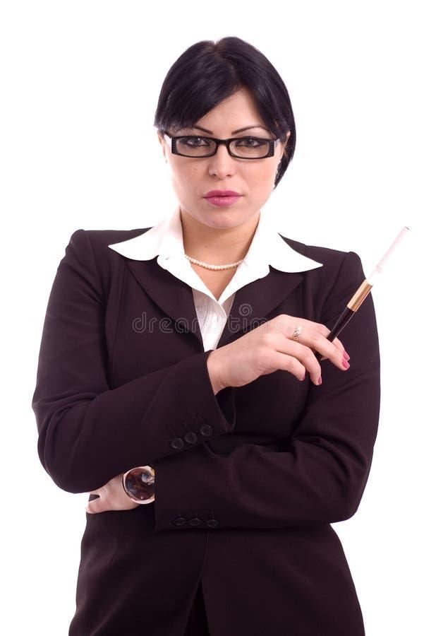 Verticale d'une femme réussie d'affaires photo libre de droits