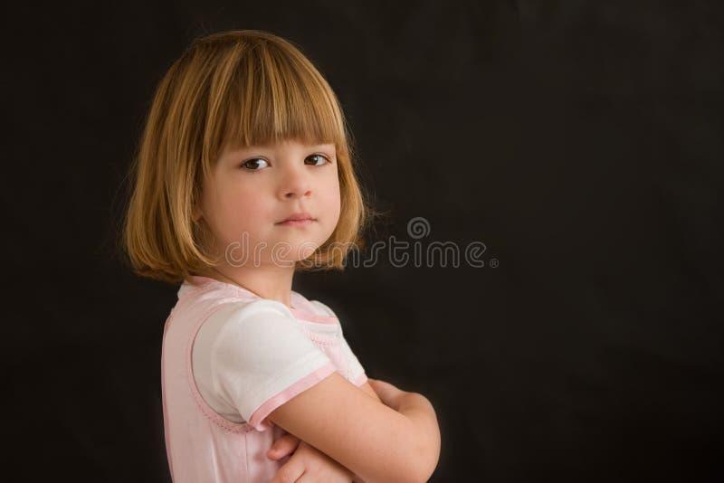 Verticale d'une fille photo libre de droits