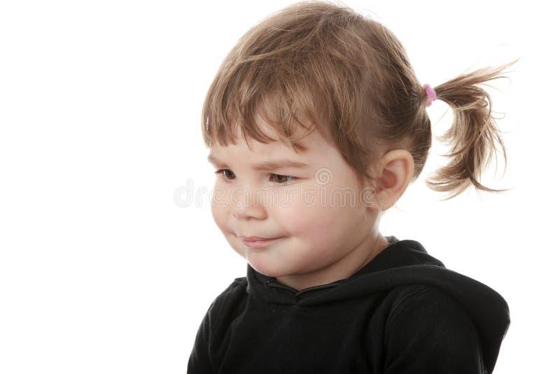 Verticale d'une fille de 5 ans image libre de droits