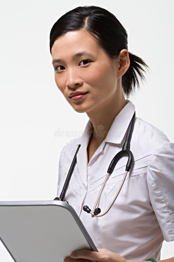 Verticale d'une infirmière images libres de droits
