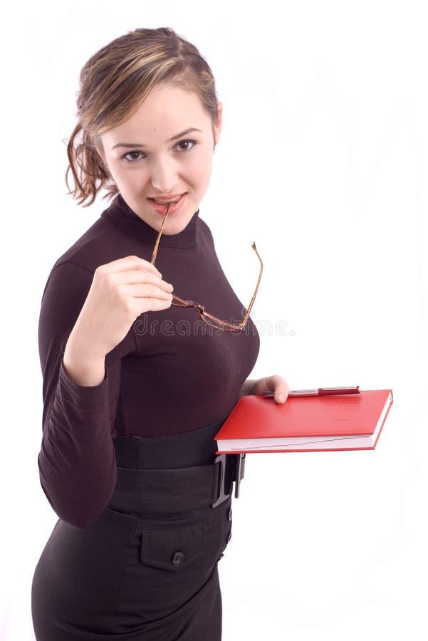 Verticale d'une jeune femme d'affaires image libre de droits