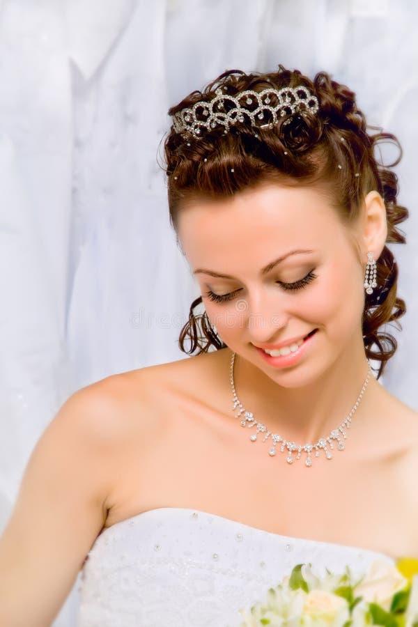 Verticale d'une mariée photo libre de droits