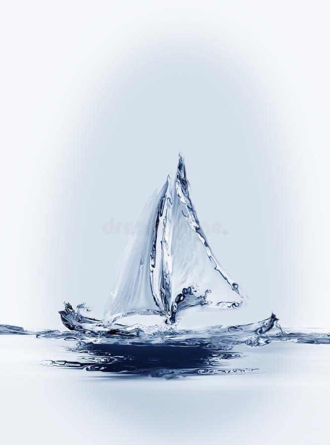 Verticale de bateau à voile illustration libre de droits