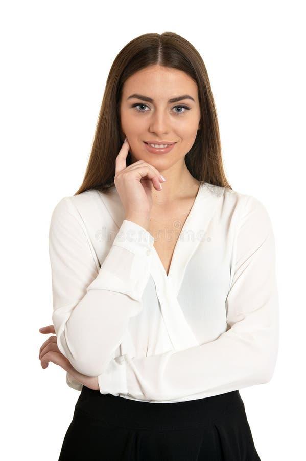 Verticale de belle femme image stock