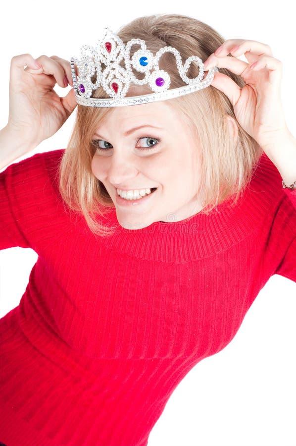 Verticale de belle femme avec la tête photos libres de droits