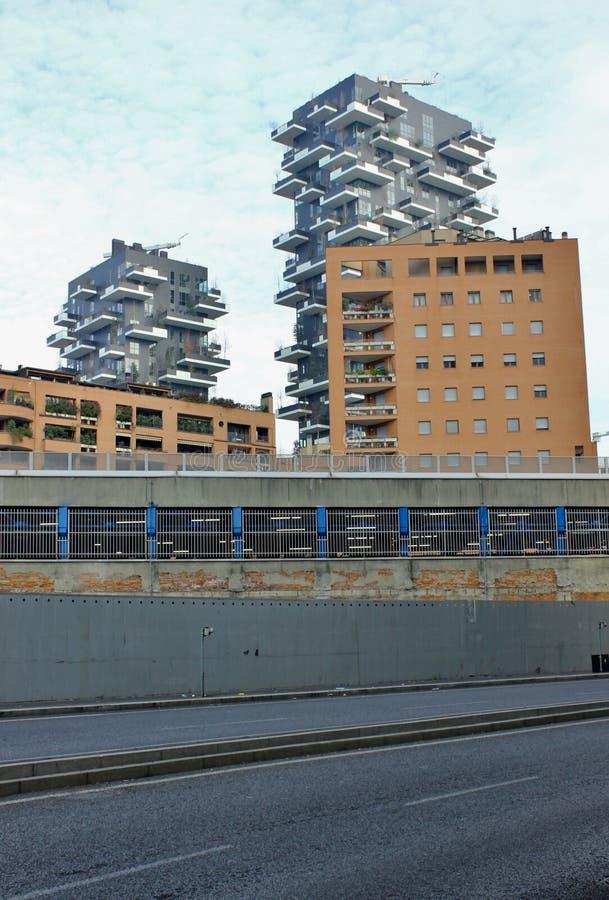 Verticale de Bosco, un nuevo skyskraper en Milan Italy fotos de archivo libres de regalías
