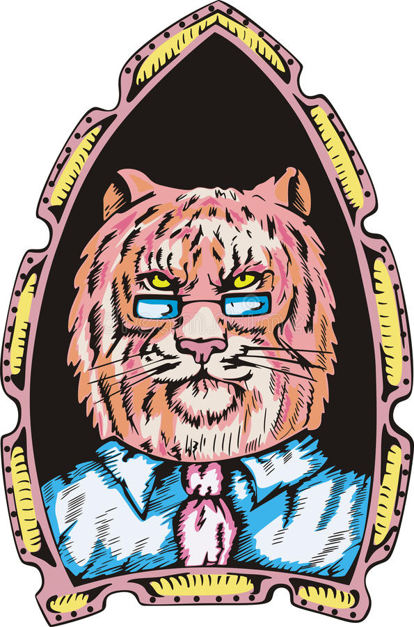 Verticale de bossage de tigre illustration de vecteur