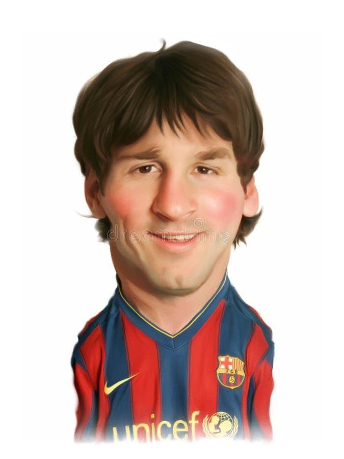 Verticale de caricature de Lionel Messi