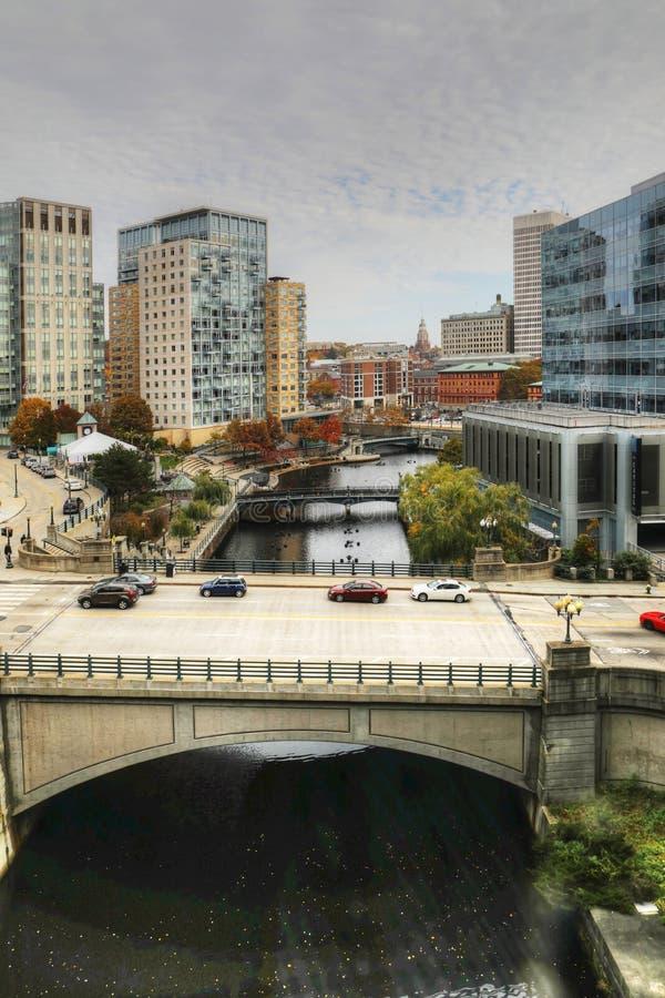 Verticale de centre-ville de Providence, Île de Rhode images stock