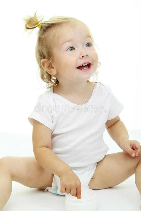 Verticale de chéri adorable images libres de droits
