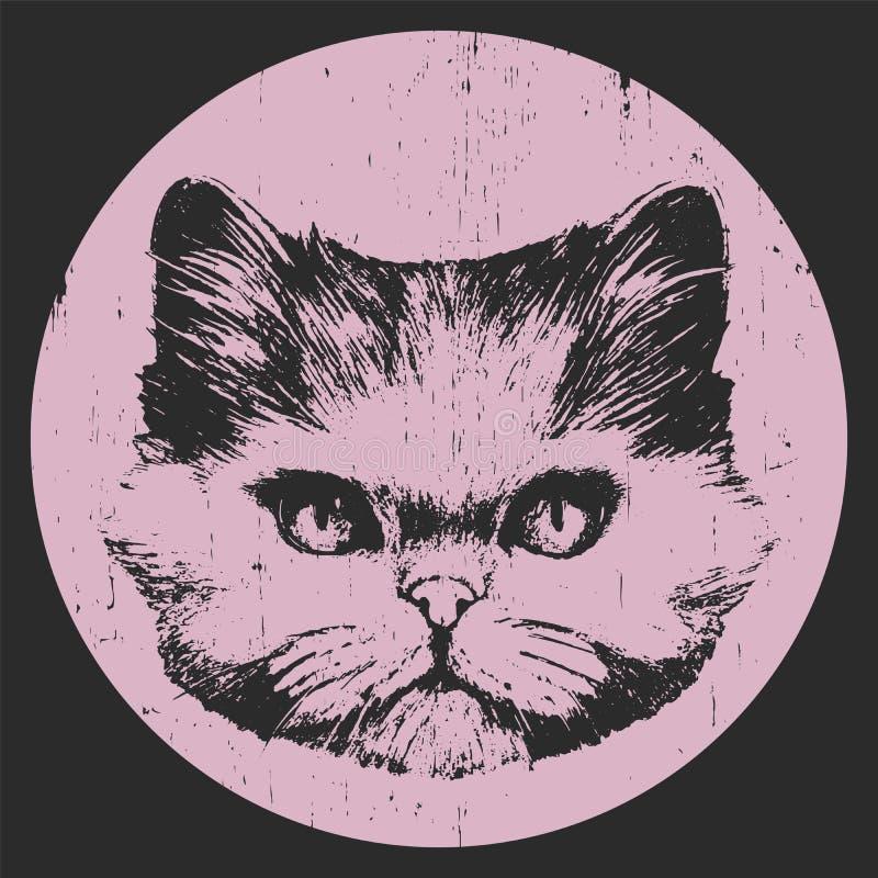 Verticale de chat persan illustration de vecteur