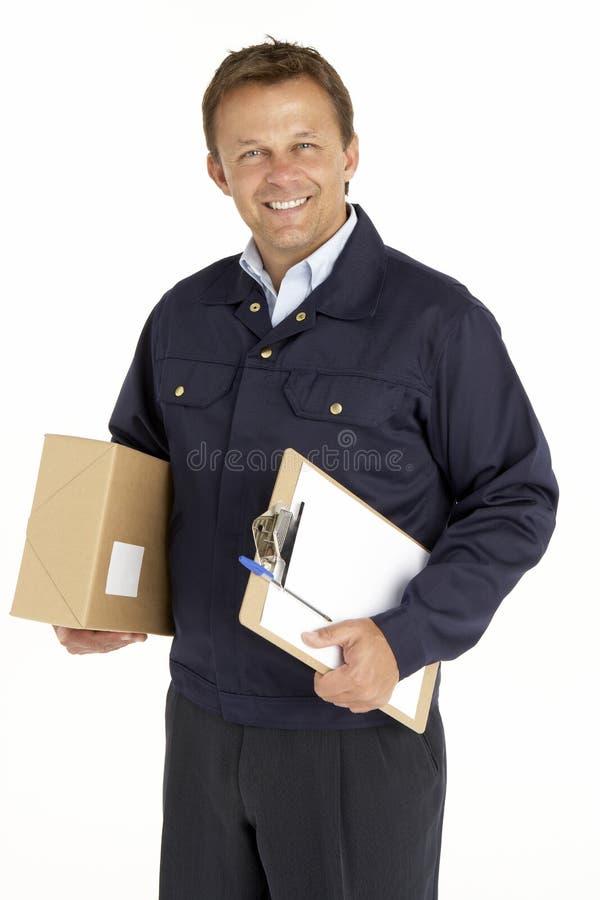 Verticale de courier avec le module photo libre de droits