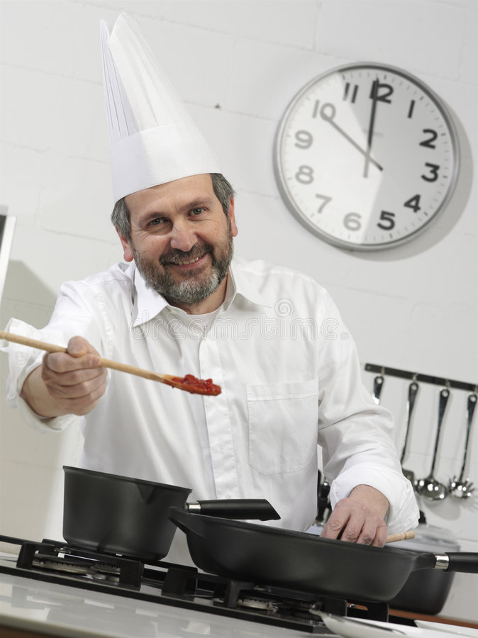 verticale de cuisinier photographie stock