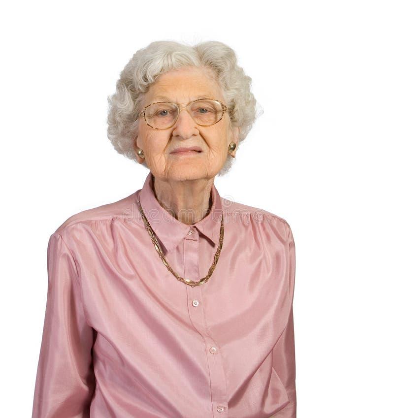 Verticale de dame âgée images libres de droits
