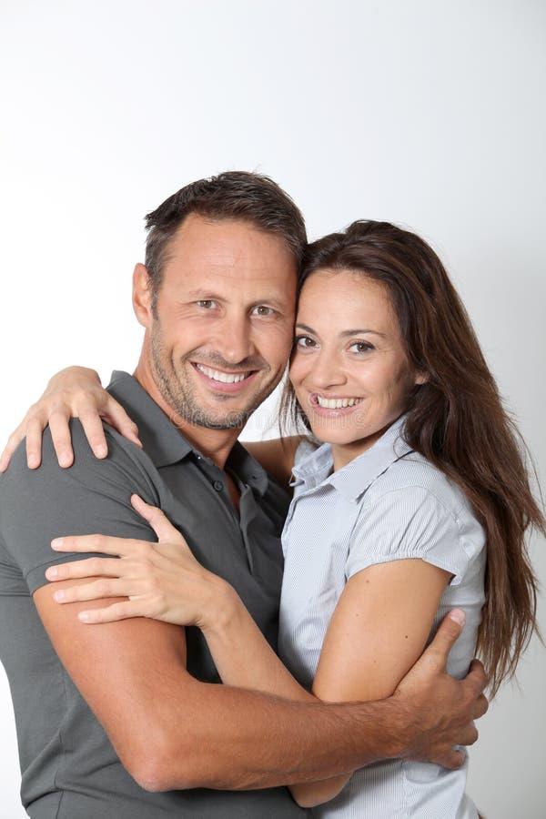 Verticale de dans les couples aimés images stock