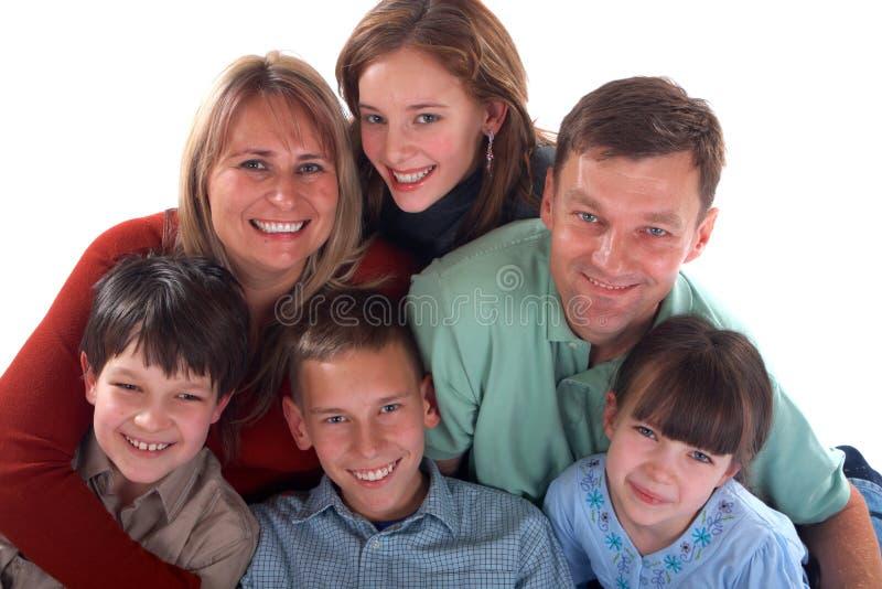 Verticale de famille heureuse image stock