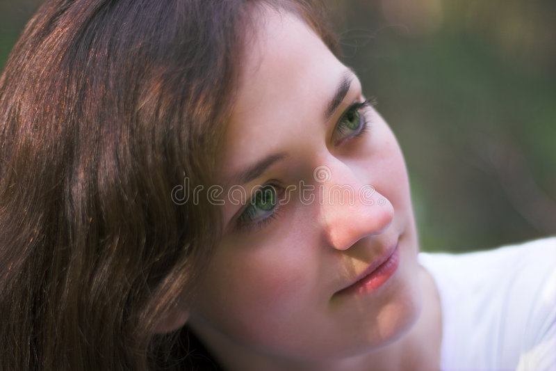 Verticale de femme images stock