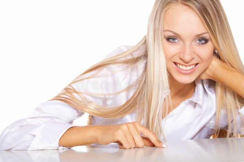 Verticale de femme blonde image libre de droits