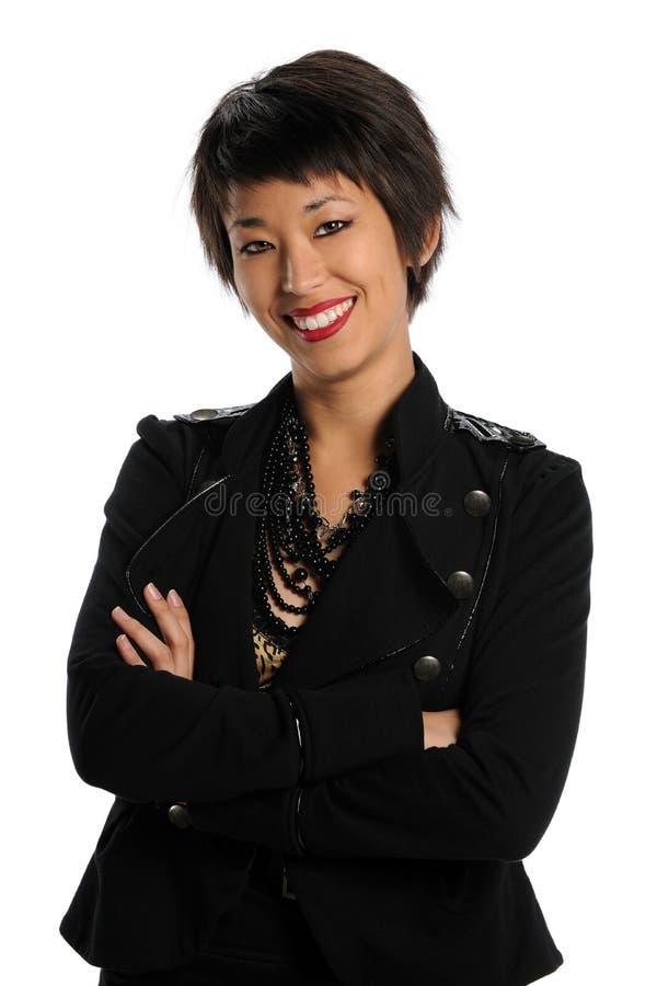 Verticale de femme d'affaires photos stock