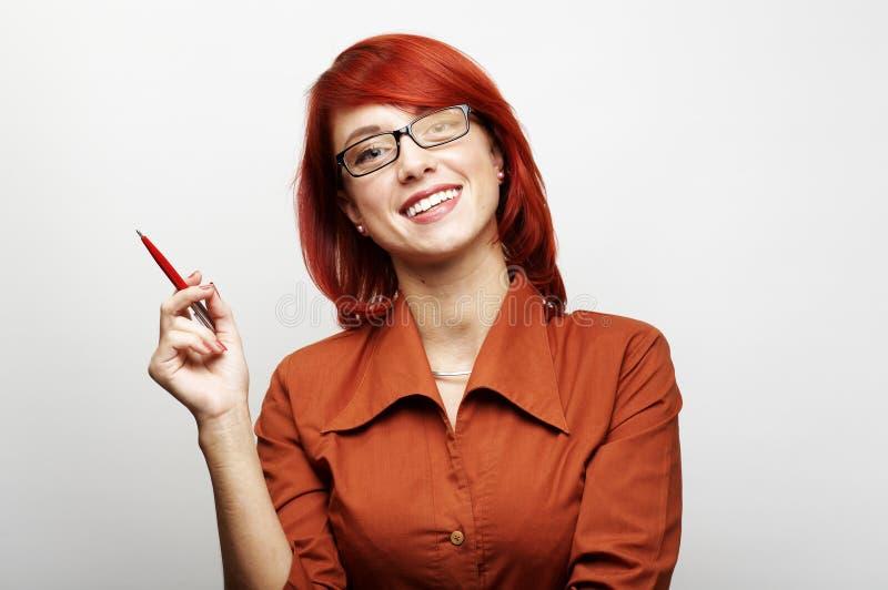 Verticale de femme d'affaires photos libres de droits