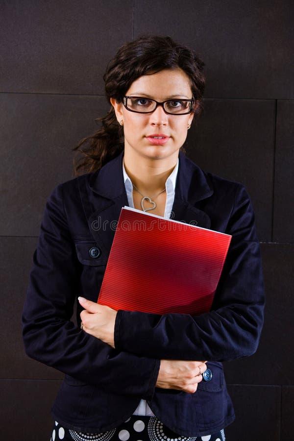 Verticale de femme d'affaires images libres de droits