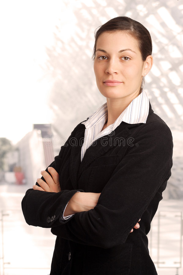 Verticale de femme d'affaires image stock
