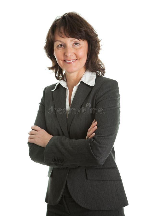 Verticale de femme d'affaires aînée sucessful image stock