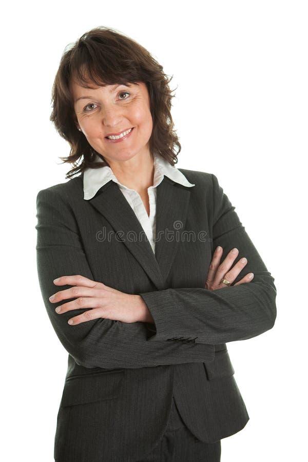 Verticale de femme d'affaires aînée sucessful photographie stock