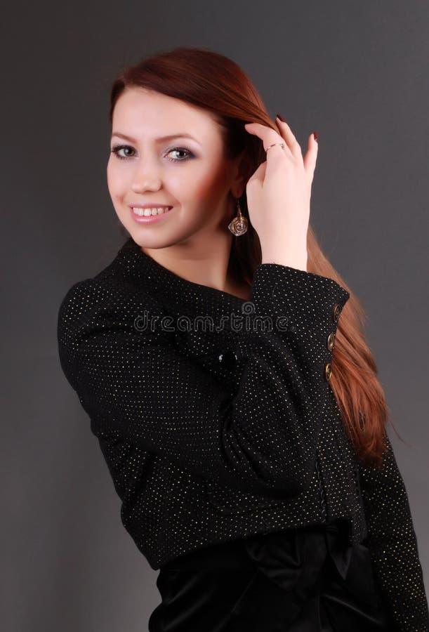 Verticale de femme d'affaires de sourire images libres de droits
