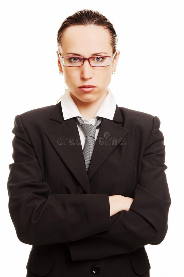 verticale de femme d'affaires stricte photo stock