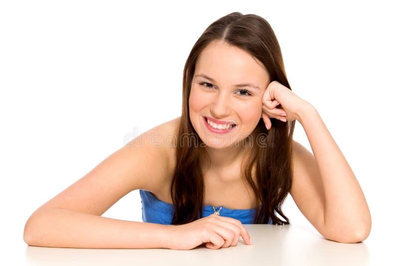 Verticale de femme de sourire photos stock