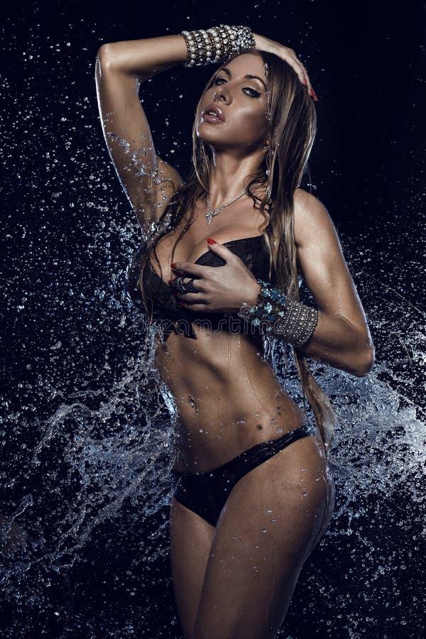 Verticale de femme sexy photographie stock libre de droits