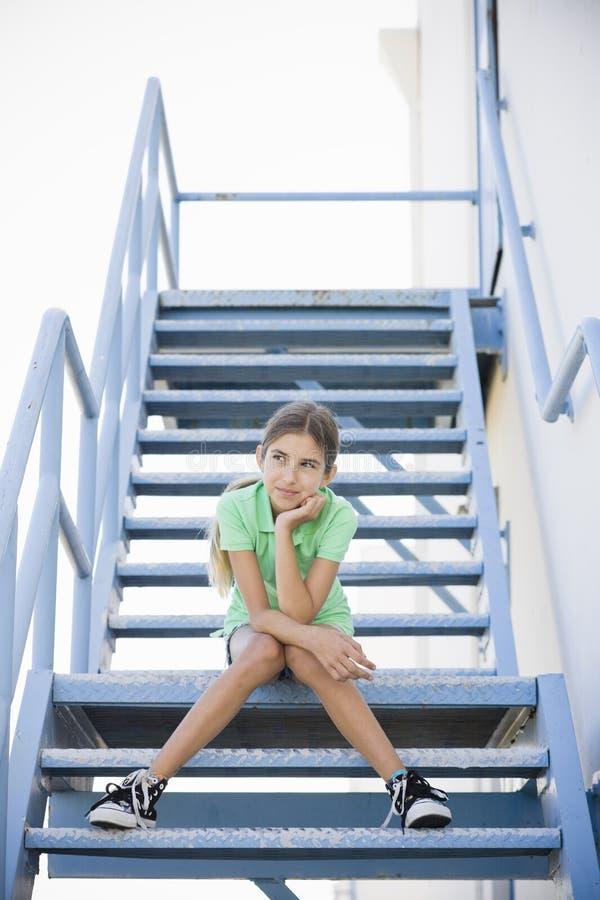 Verticale de fille de Tween photo libre de droits