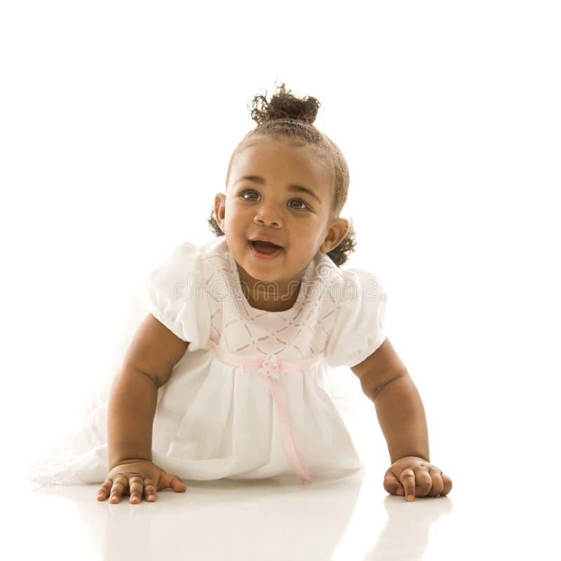 Verticale de fille infantile. images libres de droits