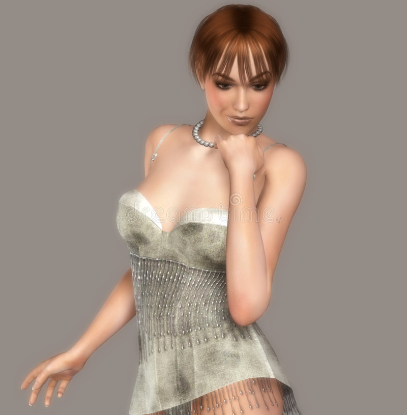 verticale de fille sexy illustration de vecteur