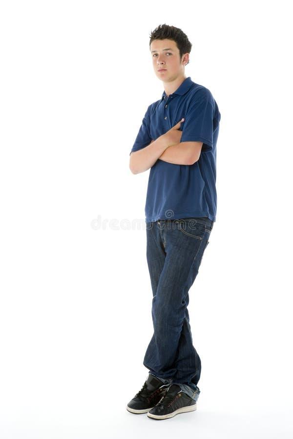 verticale de garçon d'adolescent photo stock