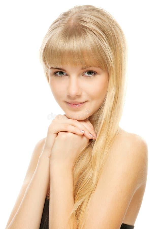 Verticale de jeune belle femme photographie stock