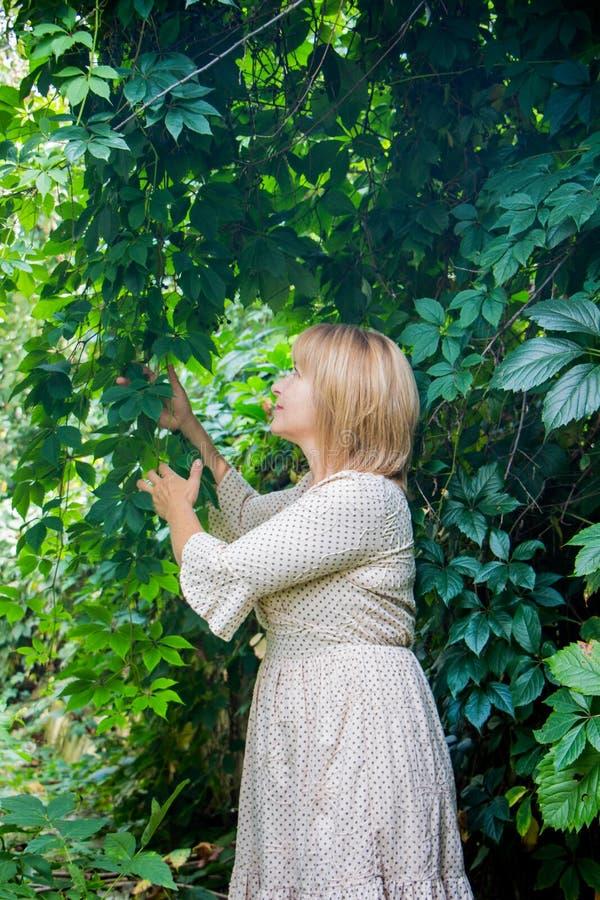 Verticale de jeune belle femme blonde photographie stock libre de droits