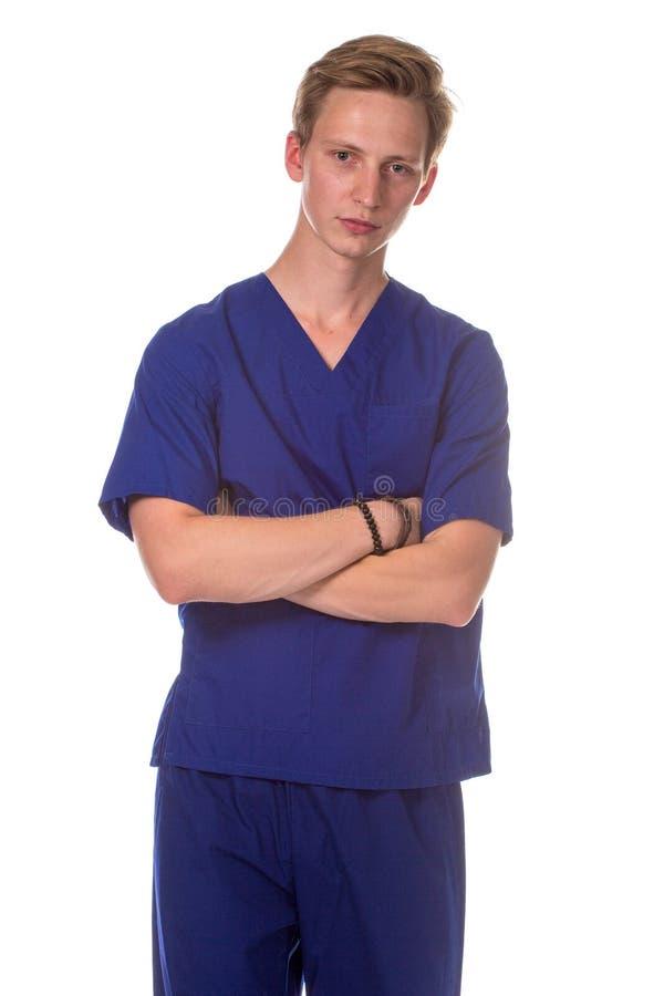 Verticale de jeune docteur image libre de droits