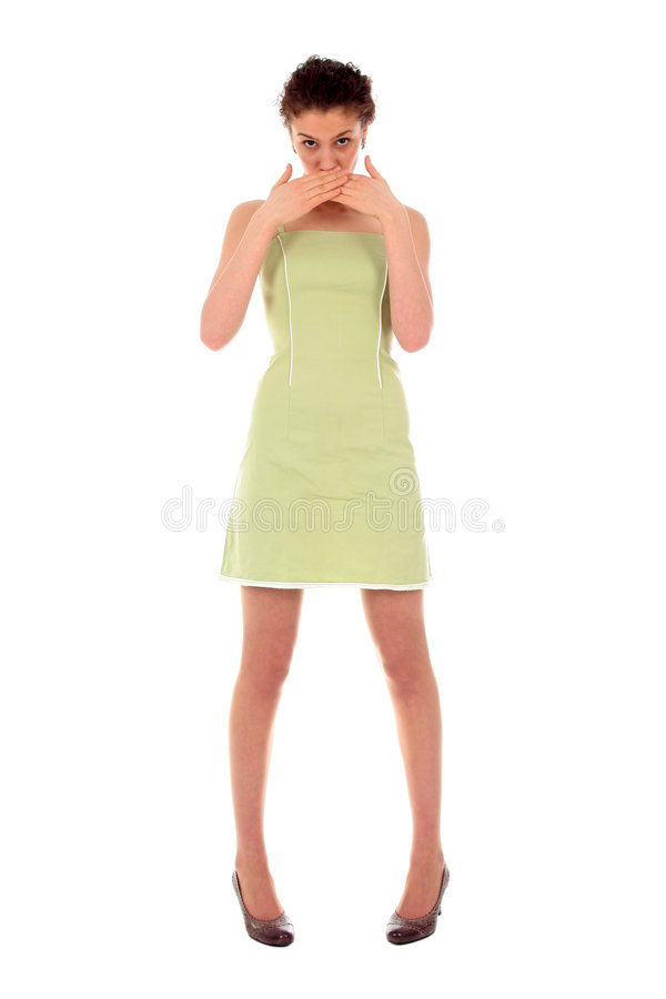 Verticale de jeune femme images stock
