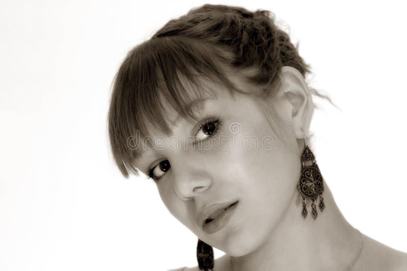 Verticale de jeune fille photo libre de droits